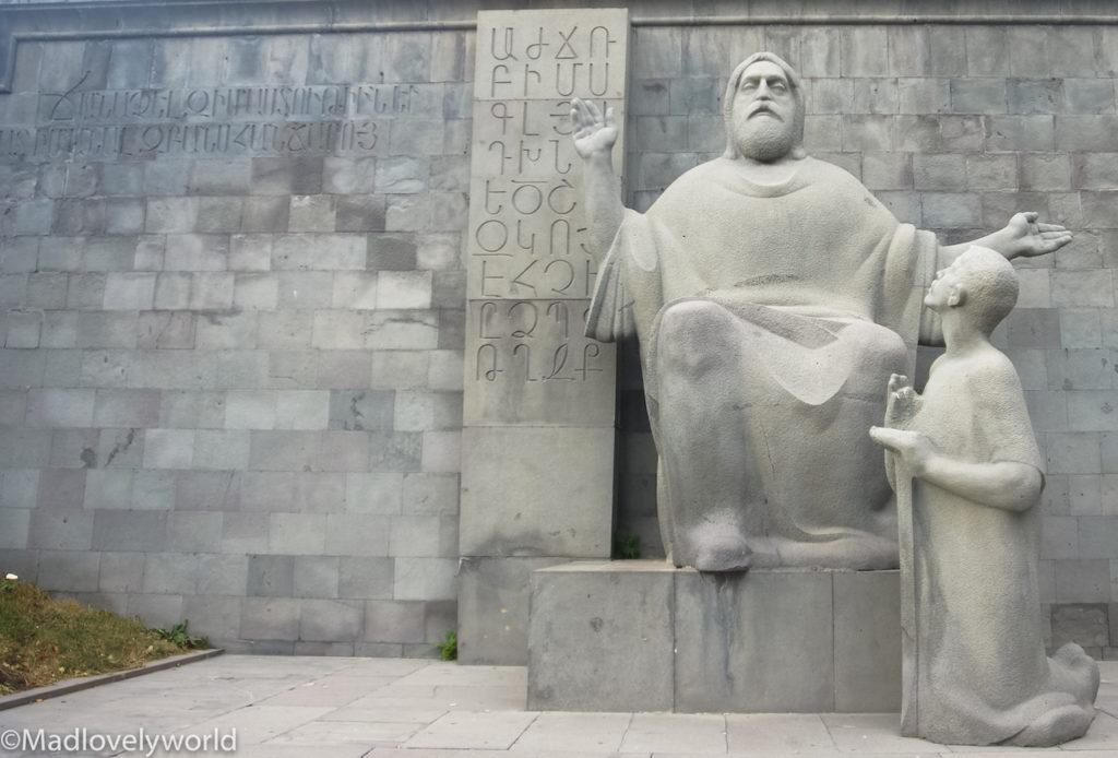 Mesrop Maschtoz, ein Heiliger und Erfinder der armenischen Schrift