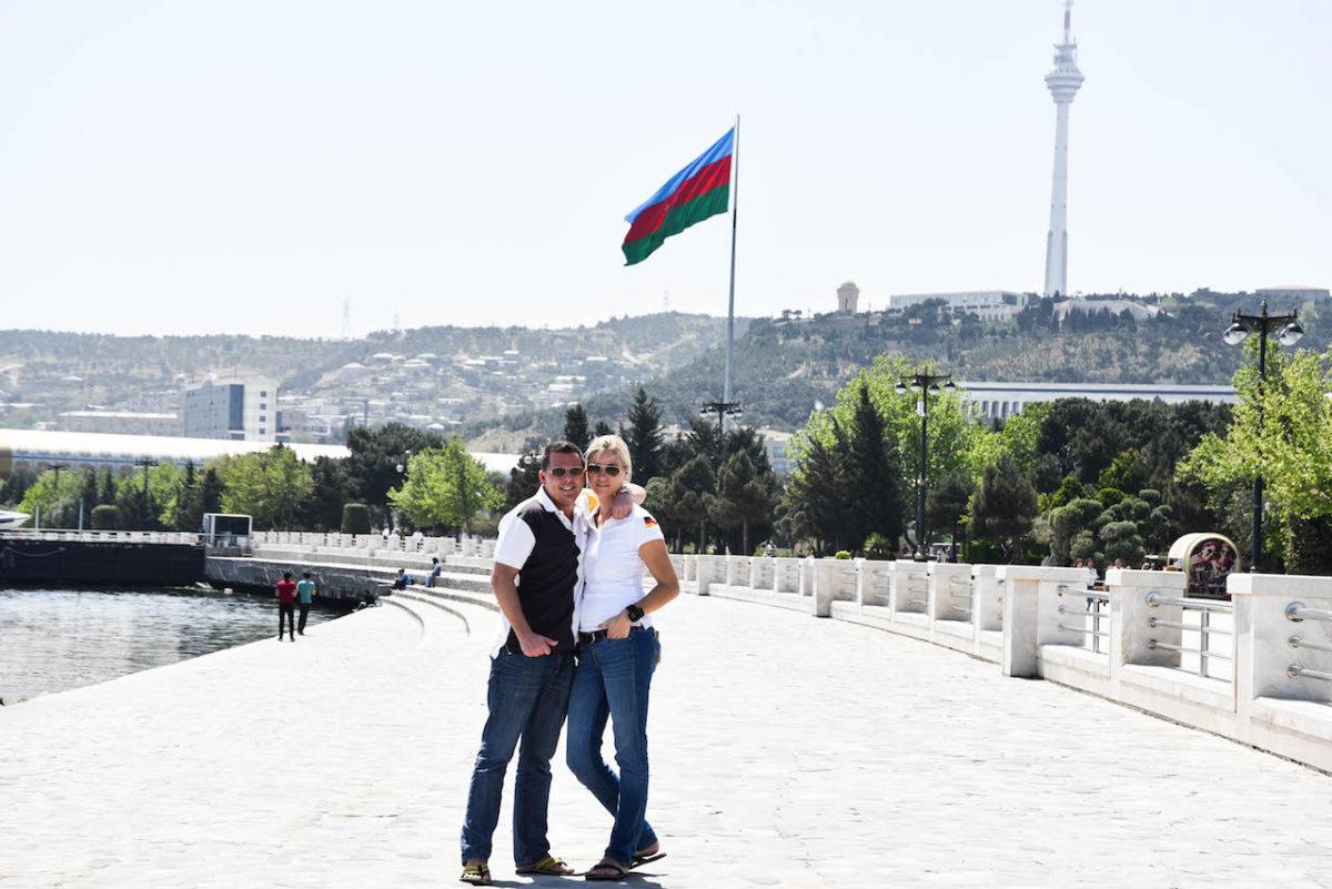 Flagge Aserbaijan