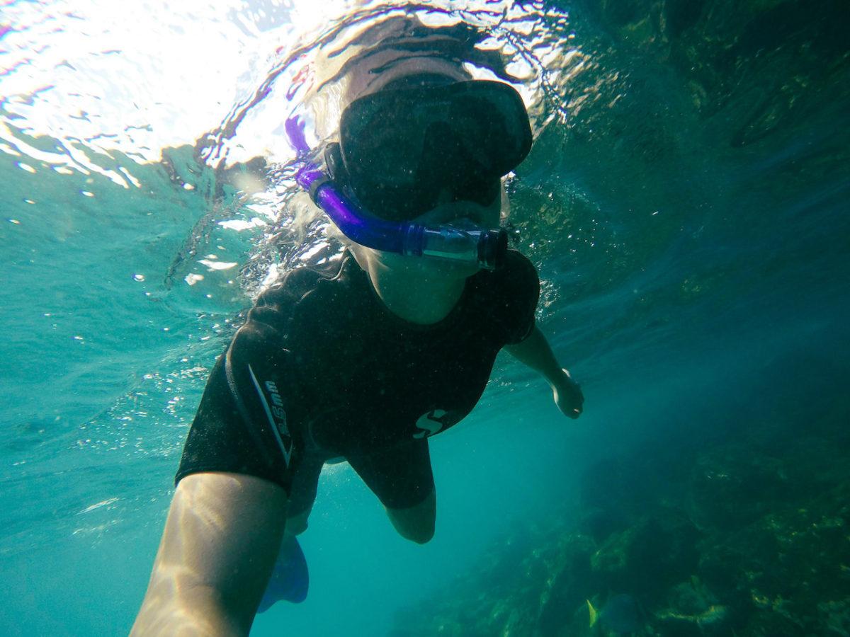 Schnorcheln durch die Unterwasserwelt im Pazifik